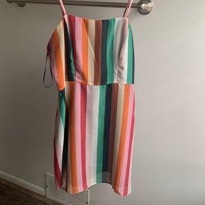 Urban outfitters rainbow mini dress